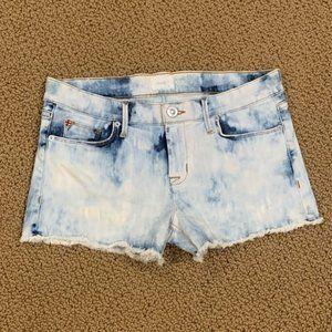 Hudson Bleach Cut Off Denim Jean Shorts